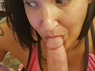 Wife sucking and texting