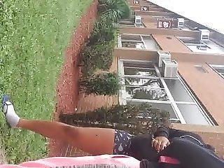Big booty black in tiny spandex
