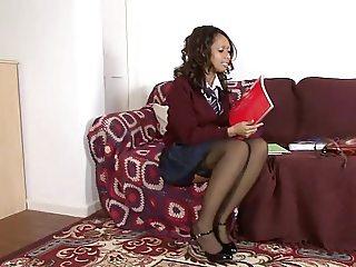 Dani schoolgirl solo
