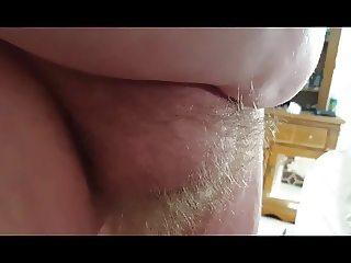 rubbing her hard nipples,big tits & soft hairy bush