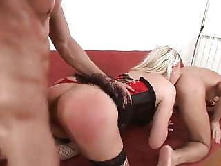 blonde in a bareback bisex mmf