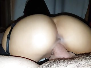 Asian reverse cowgirl pov orgasms