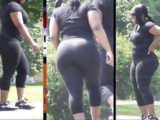 Ebony Booty Around The Park