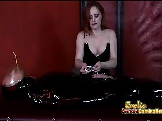 Slutty Mistress Gemini enjoys pleasuring a dudes throbbing