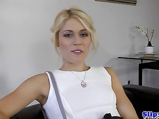 Czech babe blows old british then gets fucked