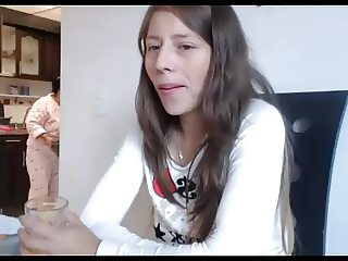 Masturbating when her mom is in the background