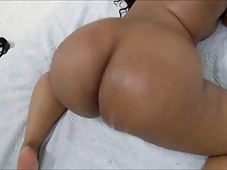 busty ebony with  huge ass  teasing a guy with her  assets