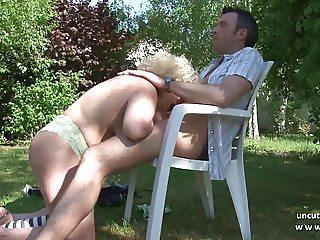 Chubby bbw french mature nextdoor hard banged outdoor