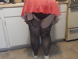 black panties ass wigle