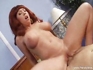 Redhead Mommy Fucks Horny Husband