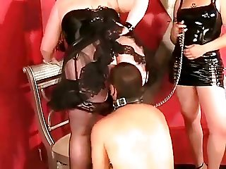 Slave worships Mistress' Ass