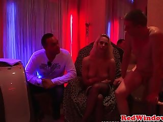 Dutch stockinged hooker with bigtits sucking