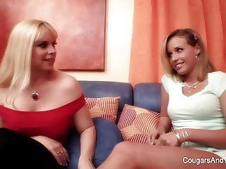 Sensual lesbian sex between two beautiful blondes