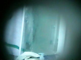 Visiting friend J showers hidden cam