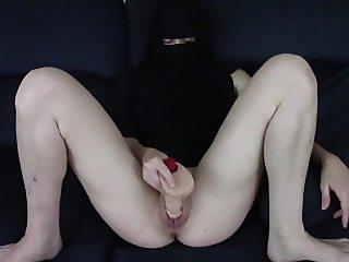 Arab Hijab Dildo Masturbation