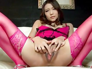 Ibuki removes her undies to play with her pussy on cam