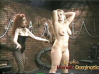 Kinky redhead slut enjoys having fun with a raunchy blonde