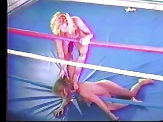 Hot Blondes Wrestling in Ring