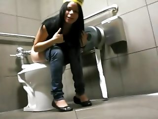 Cute Girl Filmed on the Toilet