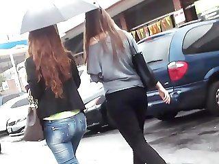 White Girl Packing Ass & Friend