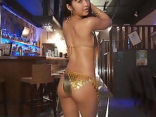 RINA - Oiled Up Gold Bikini Dancing (Non-Nude)