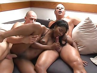 interracial 3-some