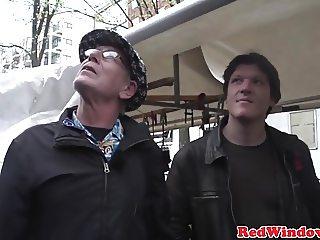 Smalltitted dutch prostitute gets cumshowered