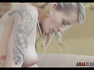 Sensual Anal with Tattooed Blonde