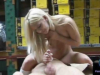 Caroline De Jaie handjob skills are top notch