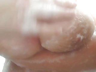 Huge natural soapy tits