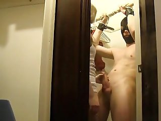 mistress fuck her slave in the closet