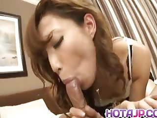 Aya Sakuraba has crack licked under panty and rides woody