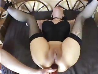 tied mom in stockings get analized