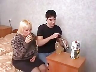 Russian mom Marta with boy