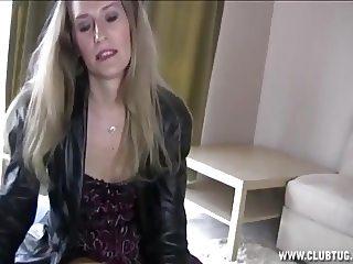 Blonde mature lady jerking