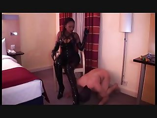 Black mistress & white slave