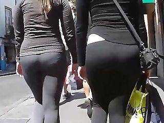 Gringas culonas en leggins