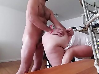Pet slut gets bent over and wrecked