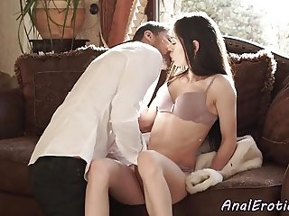 Classy eurobabe assfucked by her lover
