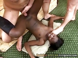 African beauty gets savagely smashed